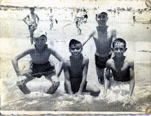 Alumnos en la Colonia de Isla Cristina (Huelva) el 26 de Julio 1959