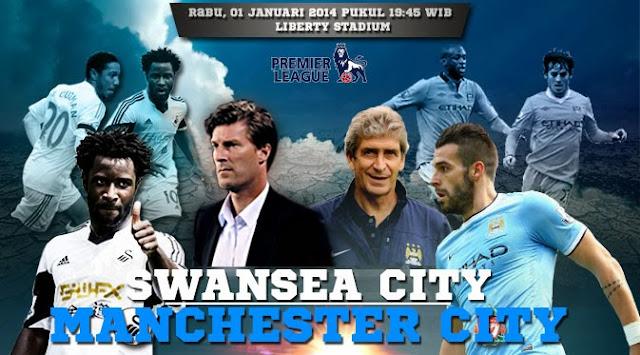 Skor Akhir Pertandingan Swansea City vs Man City Liga Primer Inggris