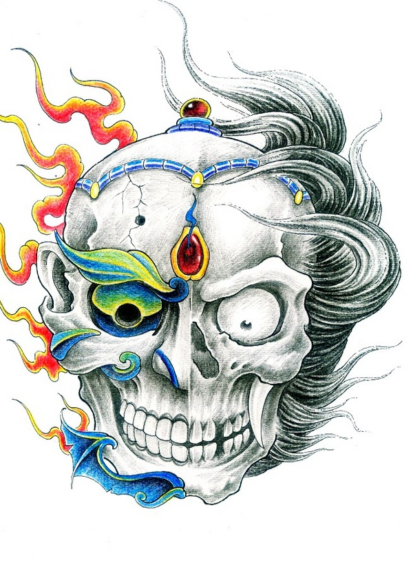 skull tattoos designs for girls