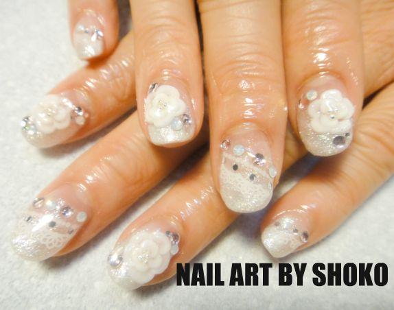 Love nail art wedding nail japanese 3d nail art wedding nail japanese 3d nail art prinsesfo Choice Image