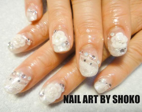 love nail art wedding japanese