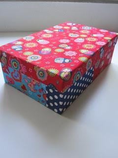Creaief kartonnen doos bekleden met stof - Versieren van een smalle gang ...