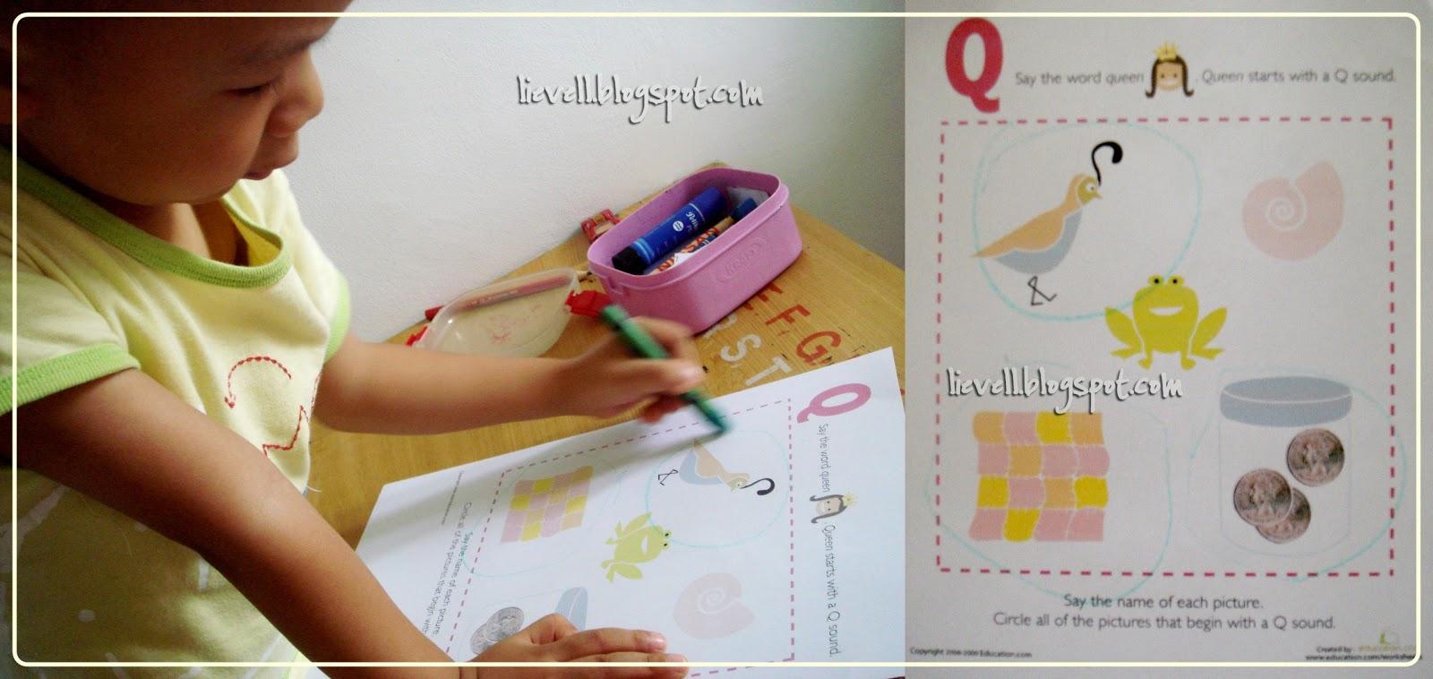 Letter Q Writing Practice Worksheet - Free Kindergarten