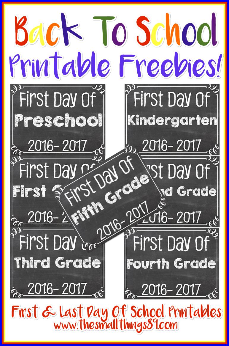 FREE Back To School Printables!