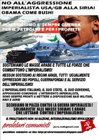No all'aggressione imperialista alla Siria
