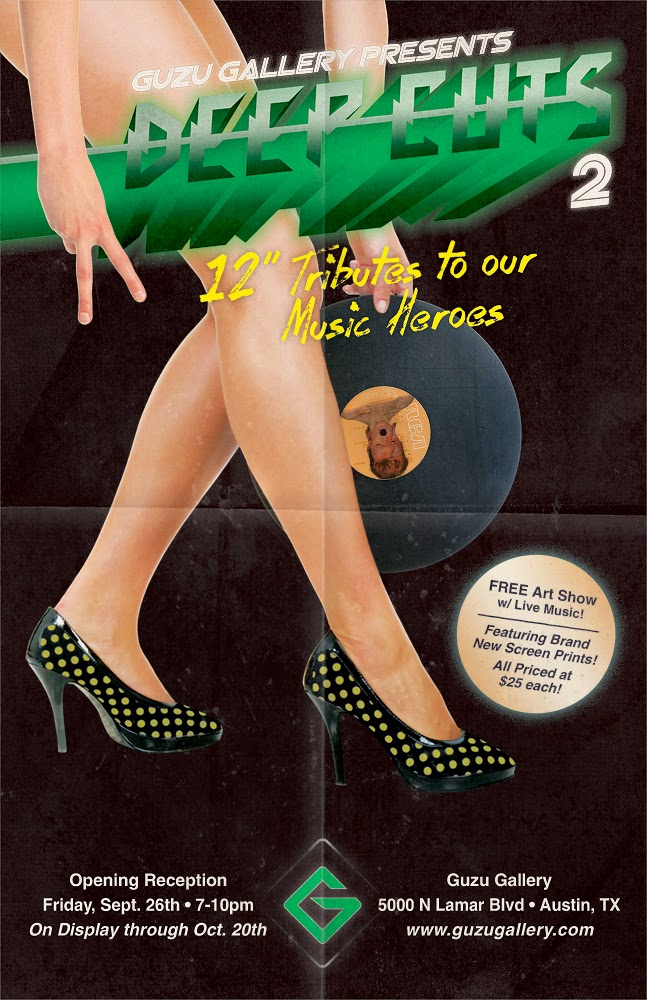 """Guzu Gallery presents Deep Cuts 2 12"""" Tributes to Our Music Heroes"""