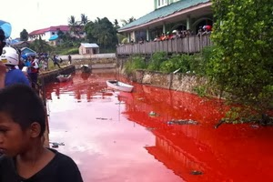 video air sungai menjadi merah