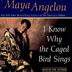 "maya angelou at rutgers maya angelou was a black child living with her grandmother in the american south in the 1930's in her autobiography ""i know why the caged bird sings"" she takes the reader on a journey throughout her childhood, growing up where racism towards the black people was rife."