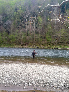 Fishing the East Branch, Delaware river, NY