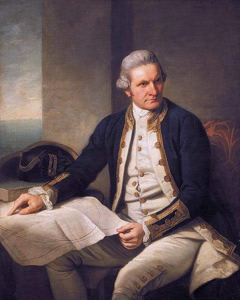 Portrait of James Cook by Nathaniel Dance-Holland, 1776