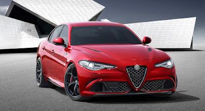 A nova Alfa Romeo Giulia fará de 0 a 100 km/h em menos de 4 segundos. O motor conta com materiais leves como fibra de carbono e alumínio.