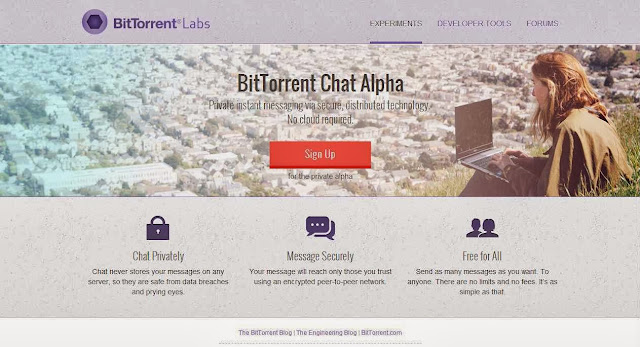 Private; Server / Cloud free; Encrypted-Secure IM (Chat) client by BitTorrent