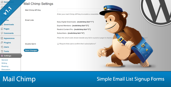 Simple Mail Chimp Signup Forms v1.1