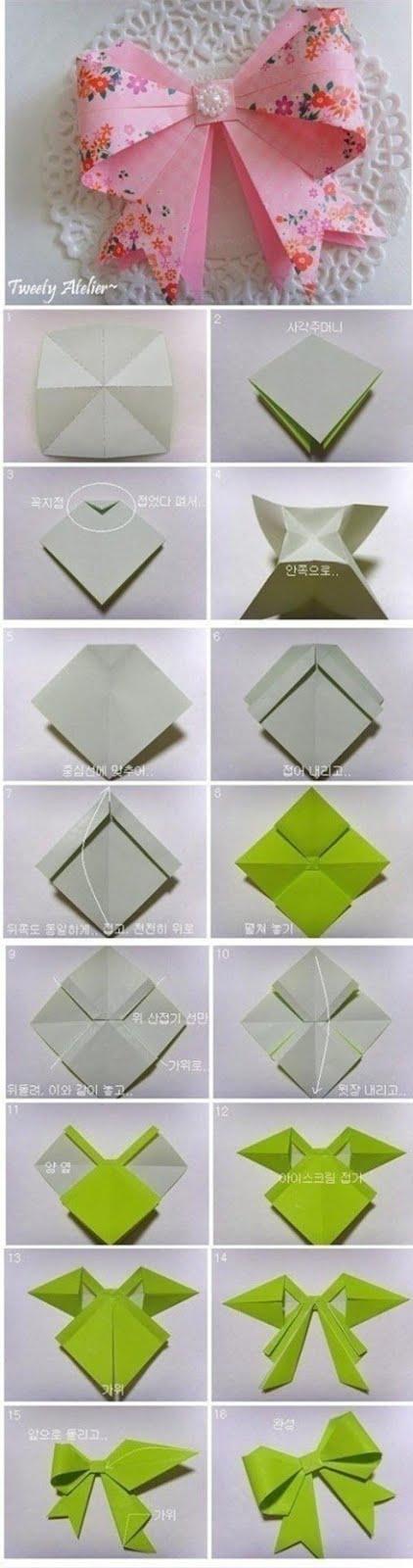 Видео как сделать оригами бантик