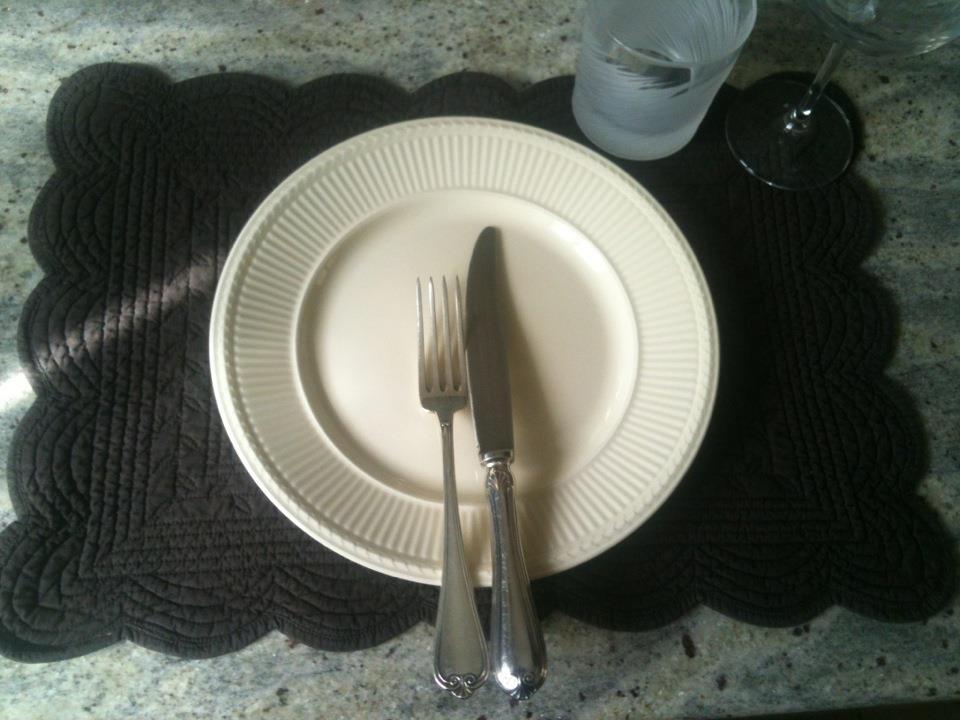 La quinta fetta di torta l 39 orologio nel piatto ovvero la - Posizione posate a tavola ...
