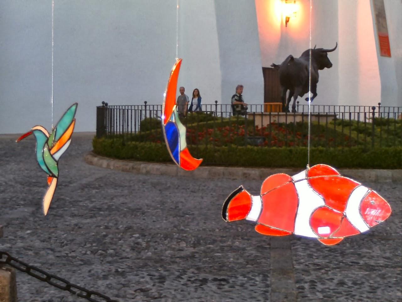 Móviles de cristal opalescente en Ronda
