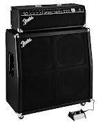 Cabeçote Fender FM 100H Valvulado com Caixa de 4 Falantes e Pedal.