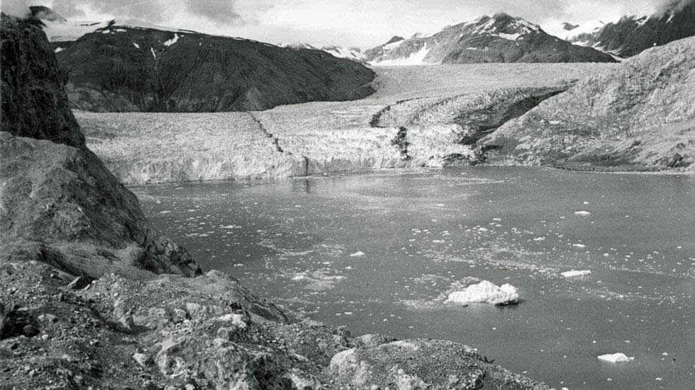 Muir Glacier and Inlet (1950) - Photos of Alaska Then And Now. This is A Get Ready to Be Shocked When You See What it Looks Like Now.