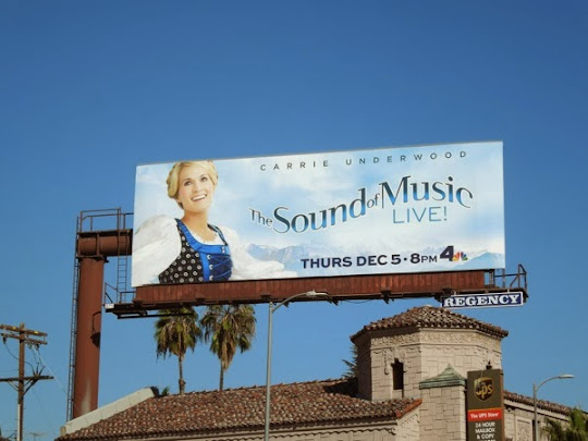 Carrie Underwood Sound of Music Live billboard