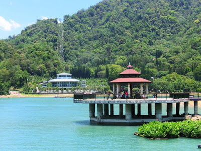 Wedding pavilion at Sun Moon Lake Taiwan