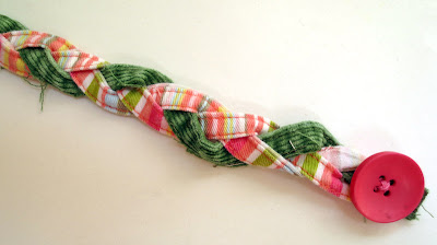 bracelet made out of pant inseams braided together