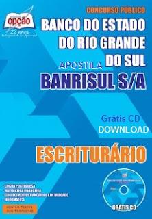 apostila do banco Banrisul 2015 para Escriturário.