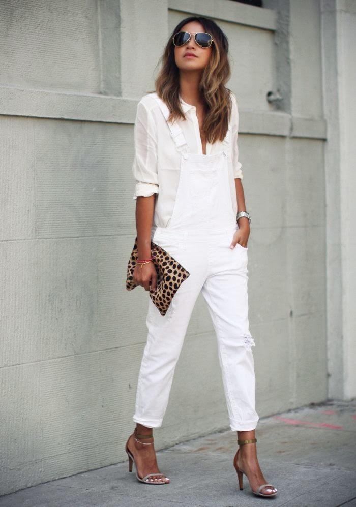 outfit met witte broek