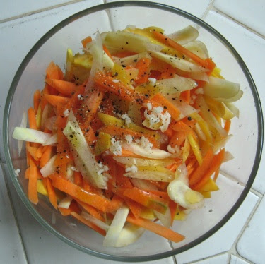 carrot garlic salad