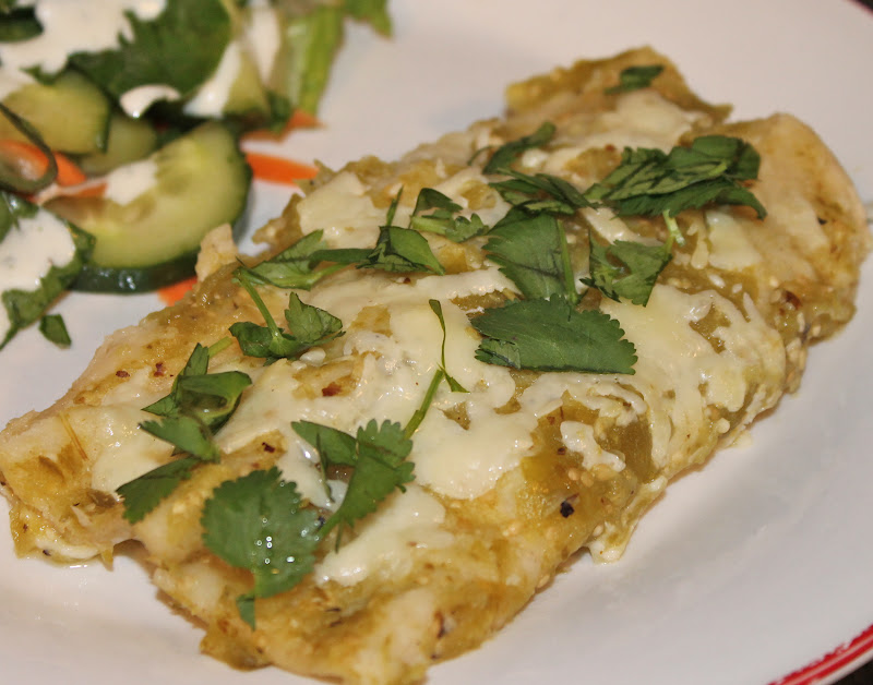 Cooking with Mandy: Green Chile Enchiladas