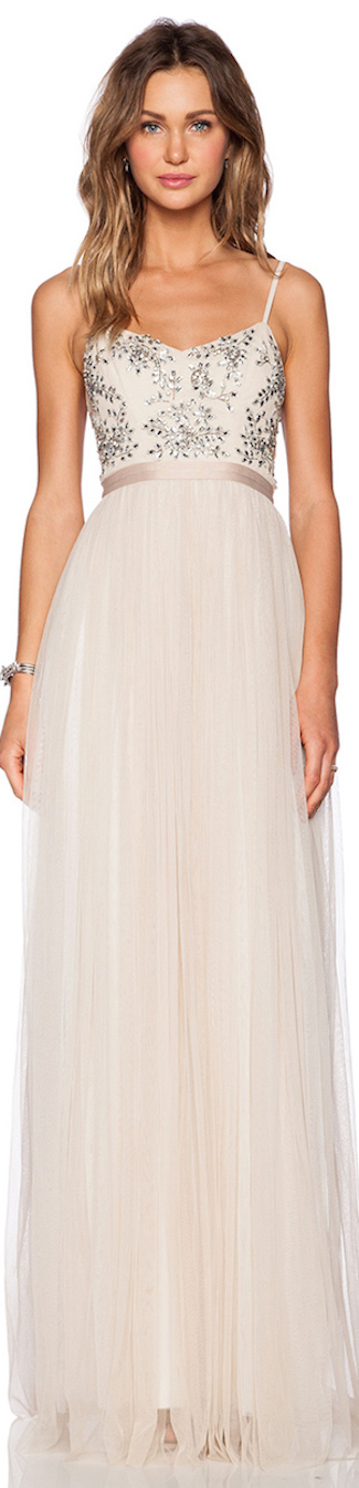 NEEDLE & THREAD CRYSTAL PETAL MAXI DRESS