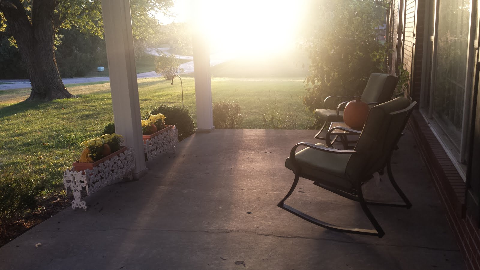 Fall Evening at Home