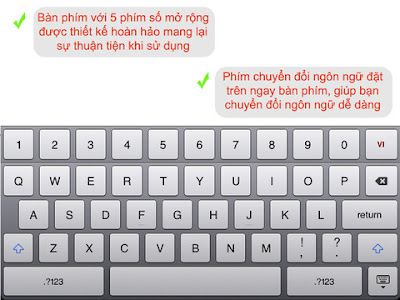 Phần mềm gõ tiếng việt cho iPad - Viet Editor