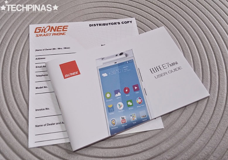 Gionee Elife E7 Mini, Gionee Elife E7 Mini Unboxing