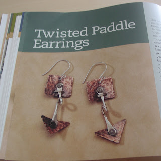 Kim St. Jean's Twisted Paddle Earrings Project