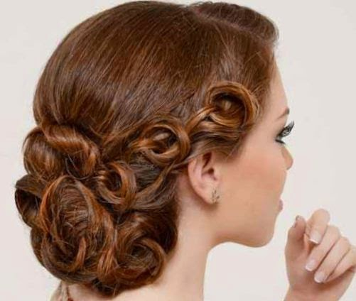Peinados elegantes con nudos para fiestas belleza y peinados - Tutorial de peinados ...
