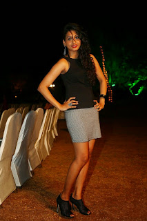 Nitya Naresh  Pictures in Short Dress at Kerintha Audio Release Function ~ Celebs Next
