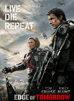 Poster Of Edge of Tomorrow (2014) In Hindi English Dual Audio 300MB Compressed Small Size Pc Movie Free Download Only At worldfree4u.com