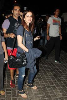 Arjun Rampal & Suzanne at the screening 'Iron Man 3'