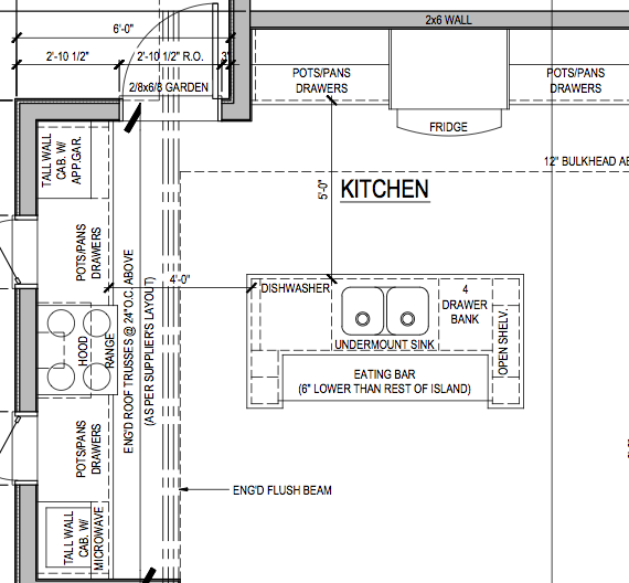 Island Kitchen Floor Plans Images