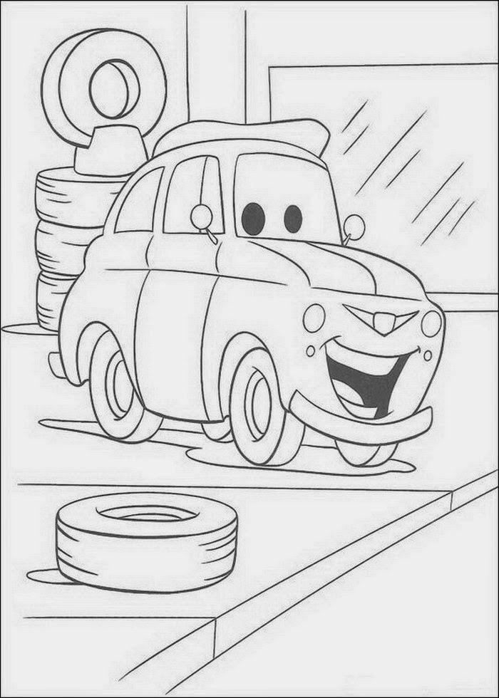 Cars gratis-Malvorlagen  - Cars Ausmalbilder Drucken
