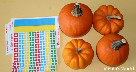 Dot Stickers Pumpkins