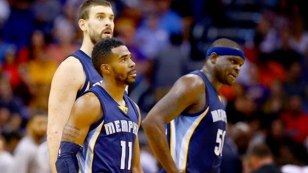 Memphis Grizzlies Tenesse Conley Randolph Marc Gasol NBA