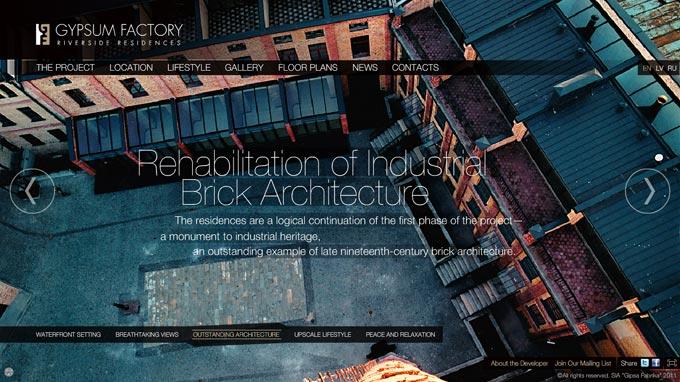 Ģipša fabrika, arhitektūra