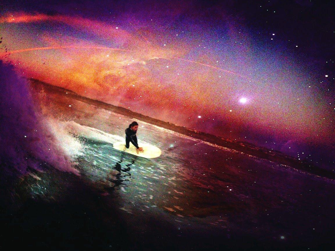 astronaut surfer wallpaper