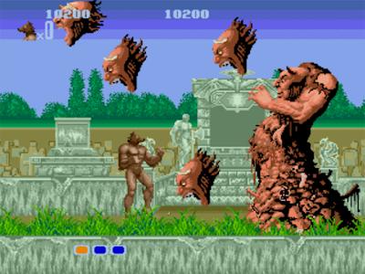 La transformation classique en loup-garou dans Altered Beast sur megadrive