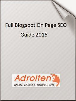 Blogger on page seo guide