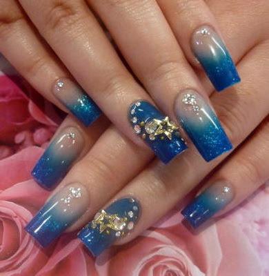 Красивый и легкий дизайн ногтей фото