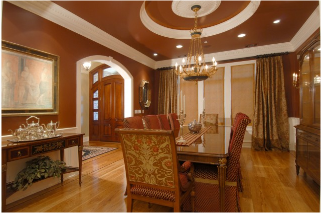 Traditional dining room design ideas room design for Dining room ceiling paint ideas