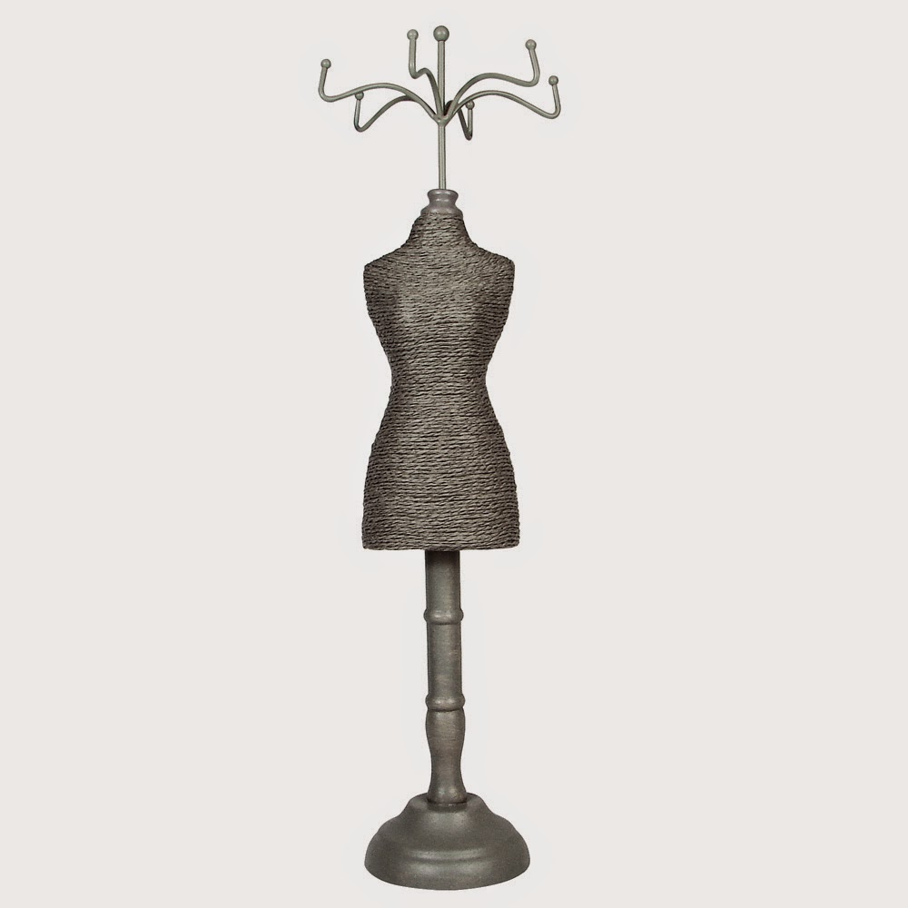 Gray Paper Twine Doll Display
