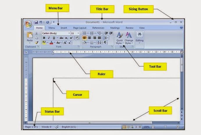 Komponen Dasar  Microsoft Word 2007